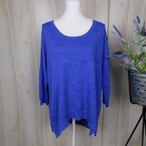 Moth Blue Lightweight Oversized Sweater